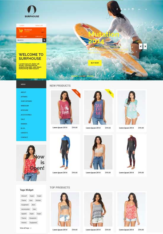 Surfhouse-Free-Flat-ECommerce-Bootstrap-Responsive-Template
