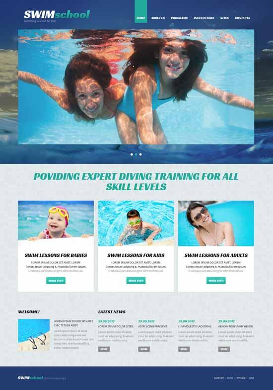Swimming-School-Responsive-Joomla-Template