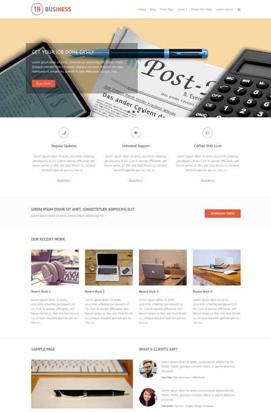 THBusiness-Free-Bootstrap-WordPress-Theme