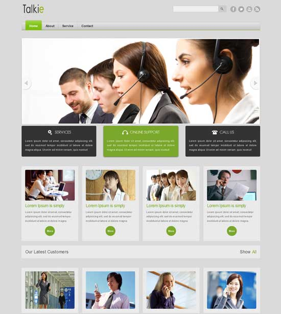 Talkie-Free-Corporate-Business-website-Template