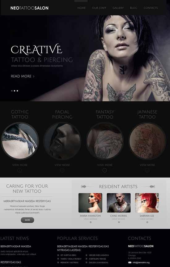 Tattoo-Piercing-Salon-Joomla-Template