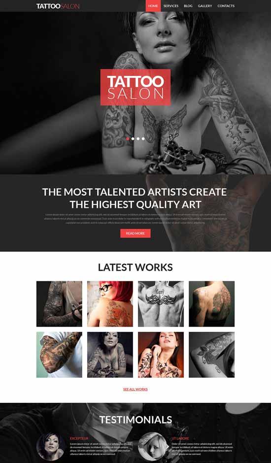 Tattooing-Salon-Joomla-Template