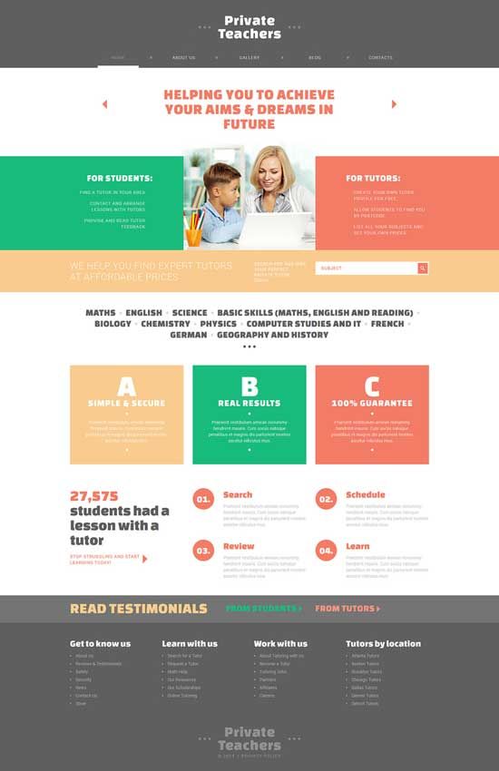 Teachers-Joomla-Template