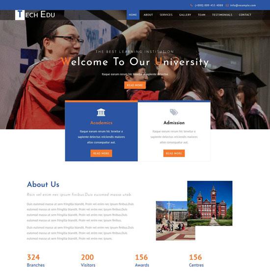 Tech Edu HTML5 Education Template