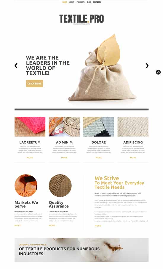 Textile-Industry-Joomla-Template