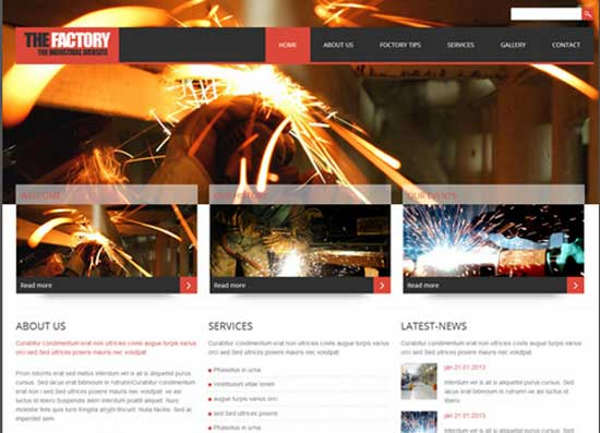 The-Factory-Free-HTML-Industrial-Website-Template