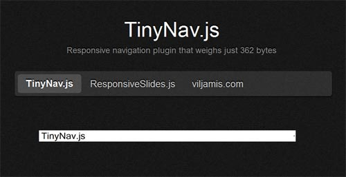 TinyNav Responsive Navigation Menu