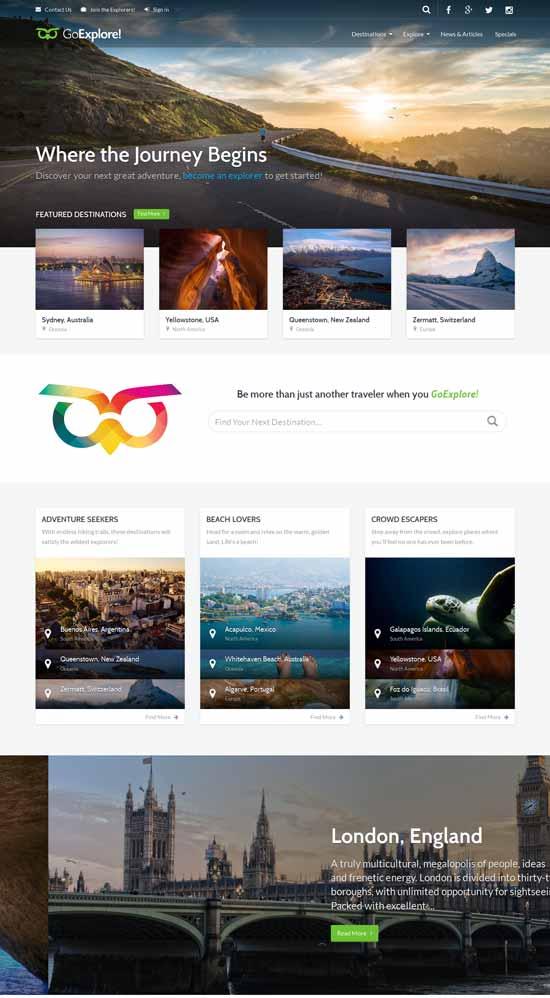 Travel-HTML-Template-GoExplore