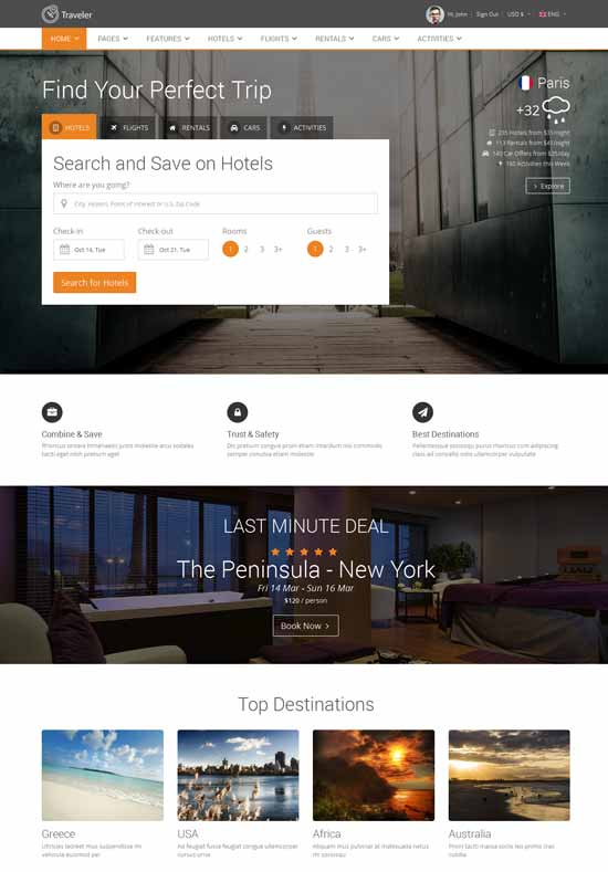 Traveler-Multipurpose-Booking-Template