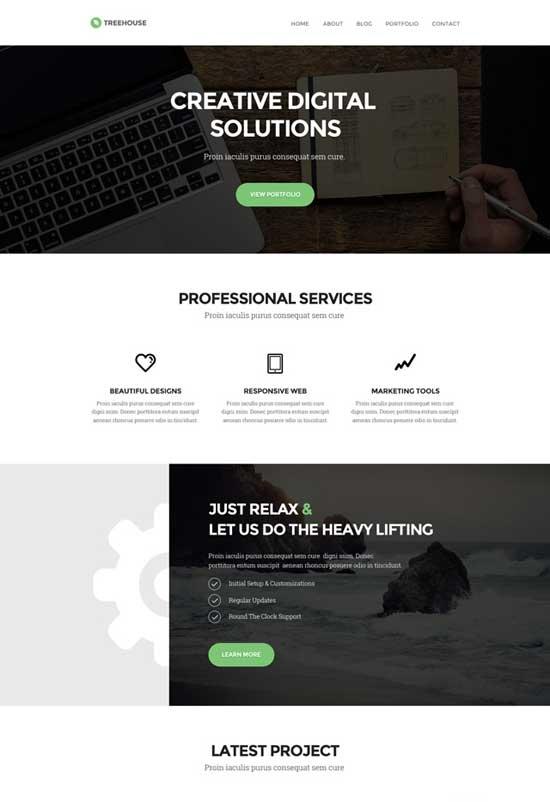 Treehouse-Website-PSD-Template