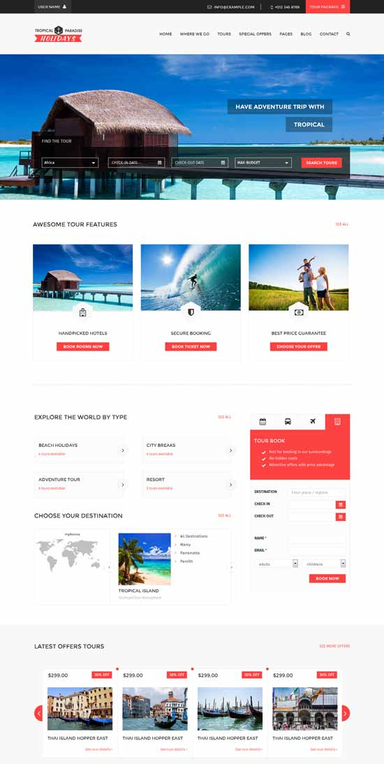 Tropical-Travel-HTML