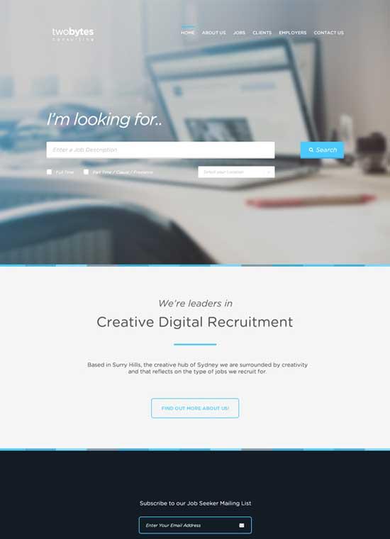 TwoBytes-Free-PSD-Website-Template