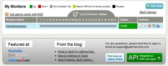 Free Online Website Monitoring Uptime-Robot