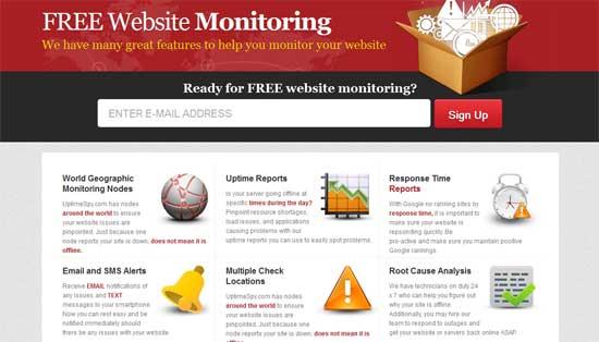Free Online Website Monitoring - UptimeSpy