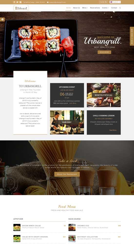 Urbanrgill-HTML5-Restaurant-Template