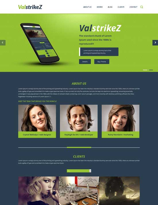 ValstrikeZ-Free-Corporate-Business-Responsive-website-template