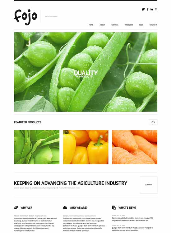 Vegetable-WordPress-Agriculture-Theme