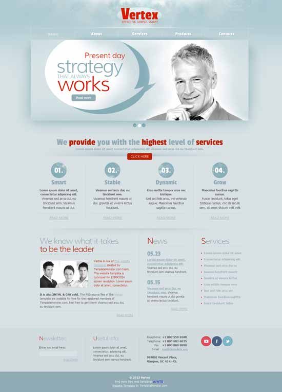 Vertex-Free-Consulting-Website-Template
