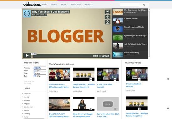 Videoism responsive blogger template