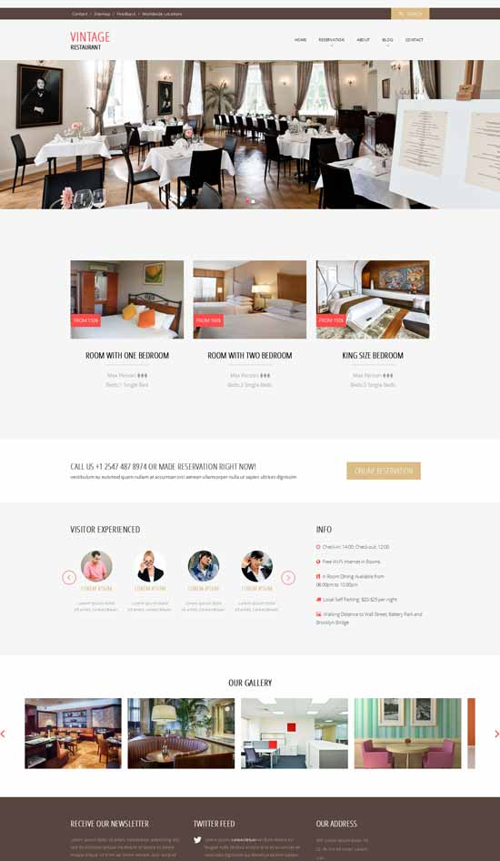 Vintage-Free-Restaurant-Website-template