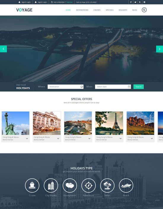 Voyage-Free-Flat-Travel-Responsive-Web-Template