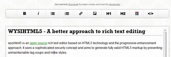 wysihtml5 - HTML5 technology framework