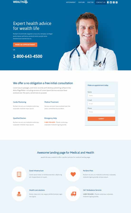 Wealth-Responsive-Landing-Page-Templates