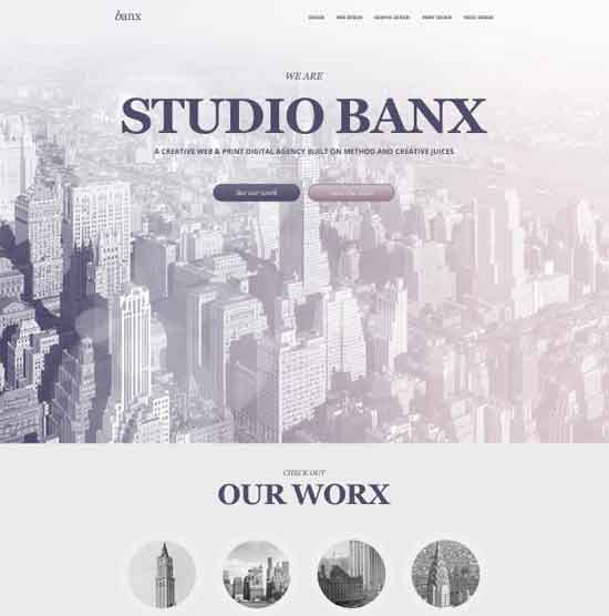 Web Design PSD - Banx
