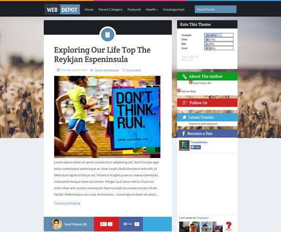 WebDepot responsive blogger template