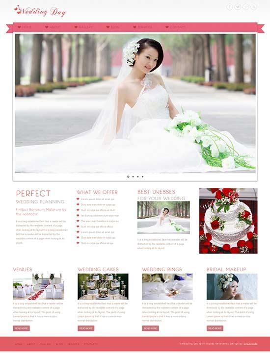 Wedding Day - Free wedding agency website template