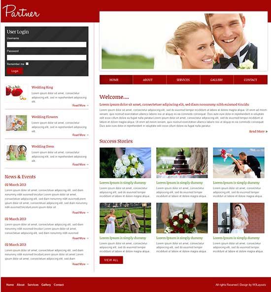 Wedding Partner Website Template