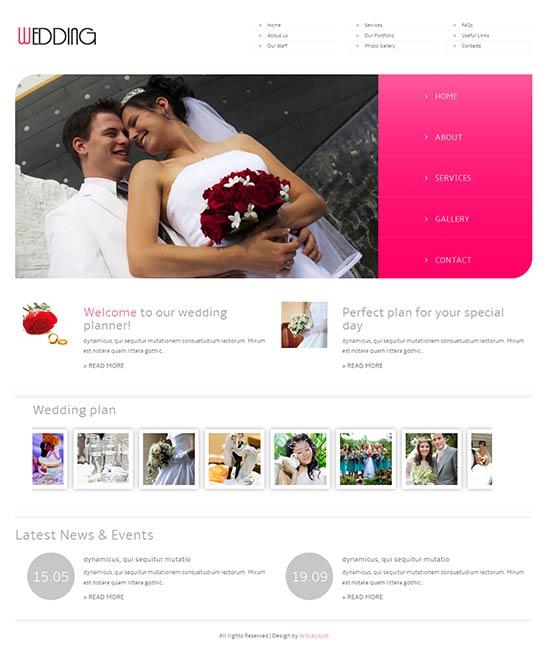 Wedding Planner HTML5 Responsive Website Template