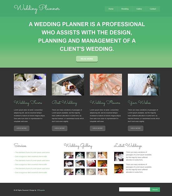 Wedding Planner Responsive Html5 Template