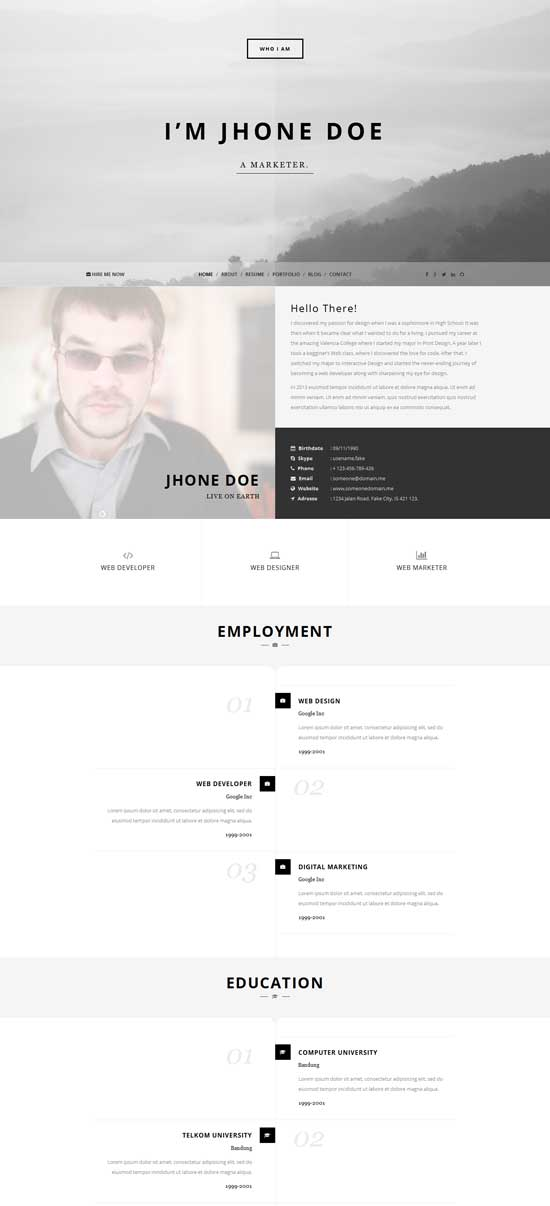 Who-I-am-Personal-Resume-template