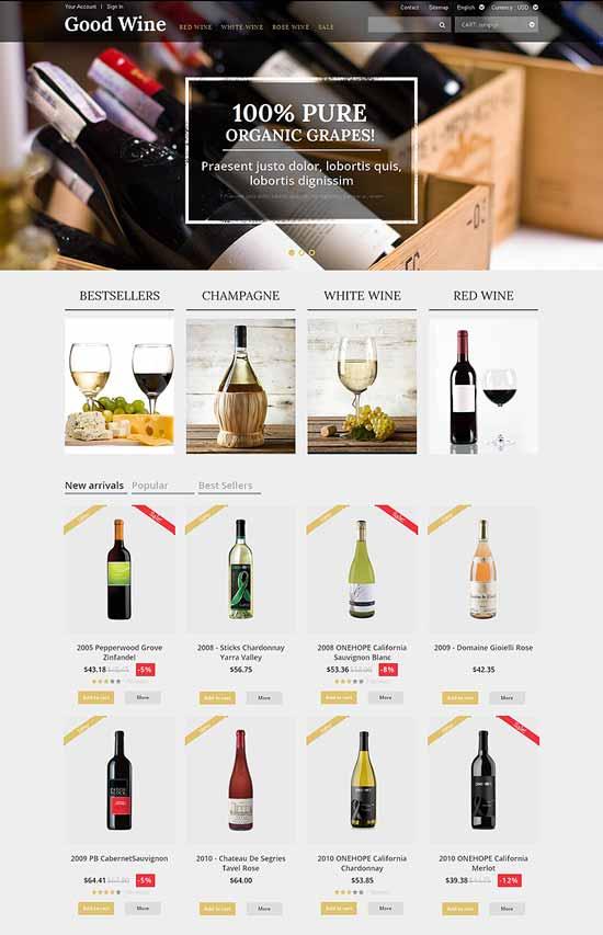 Wine-PrestaShop-Theme