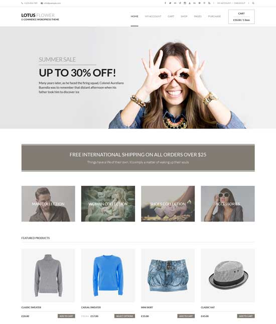 Lotus Flower - WooCommerce WordPress Themes