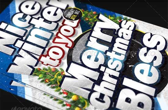 X-Mas Christmas Flyer Templates