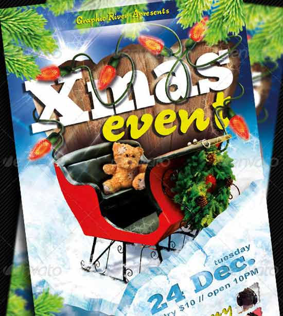 Xmas-Event Christmas Flyer Templates