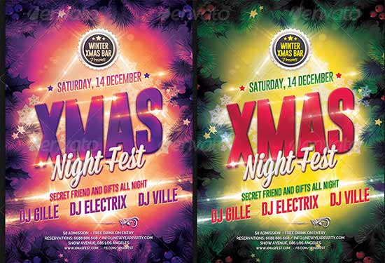 Xmas-Night Christmas Flyer Templates