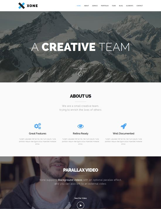 Xone-Clean-One-Page-Template