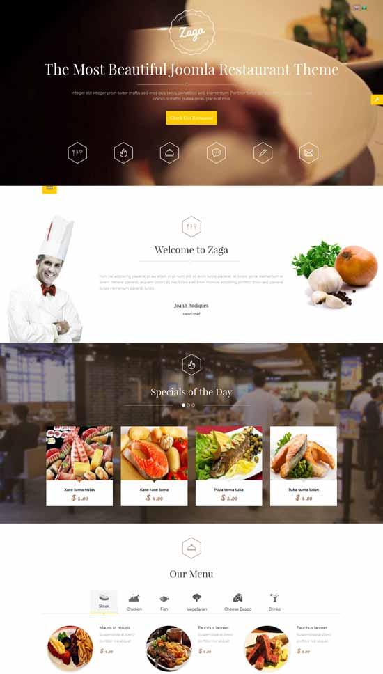 Zaga-Responsive-Onepage-Restaurant-Joomla-Template