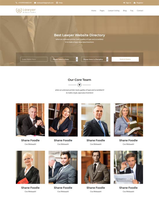 aashi lawyers law firm html template