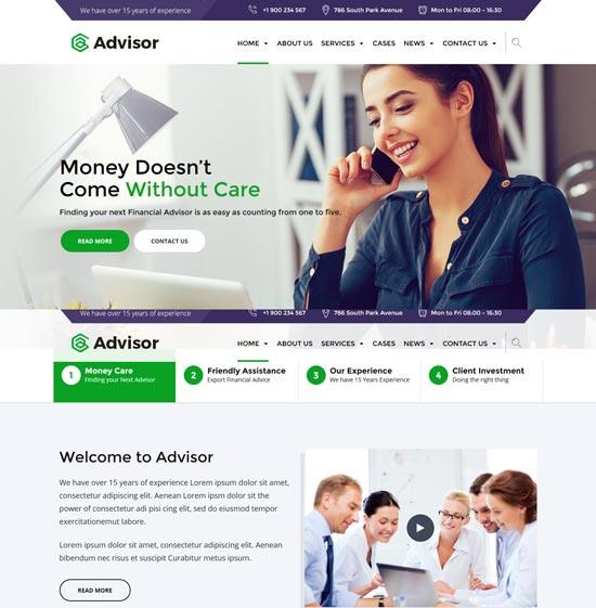 advisor consulting WordPress theme