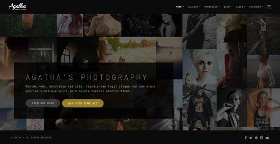 agatha-photography-website-template