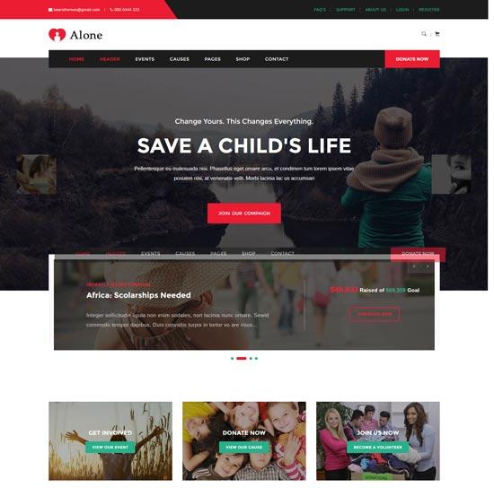 alone-charity-wordpress-theme