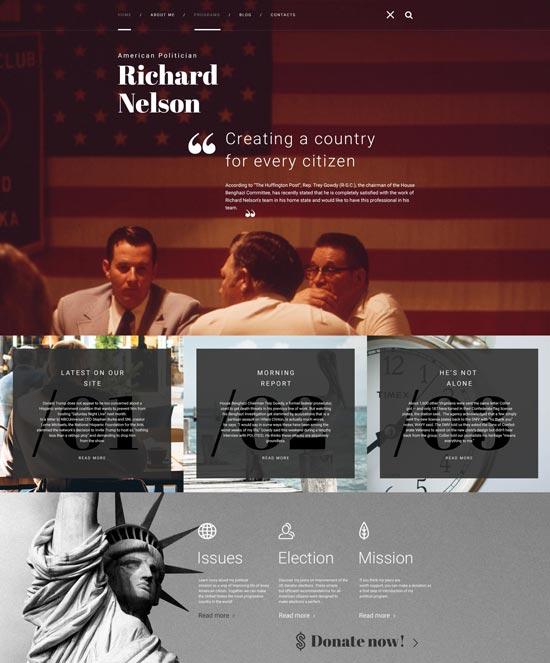 american politician WordPress theme