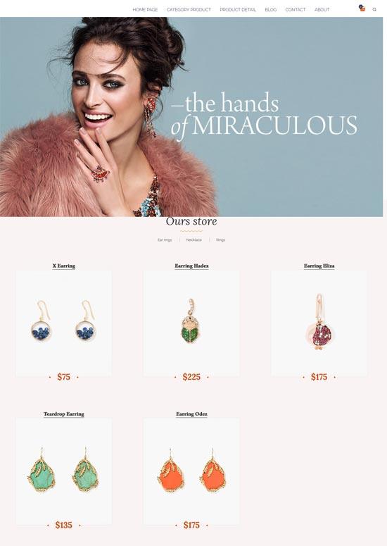 amour jewelry wordpress theme