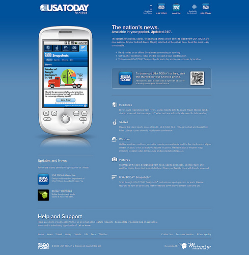 android webdesign15 30+ Android Applications Website Designs For Your Inspiration