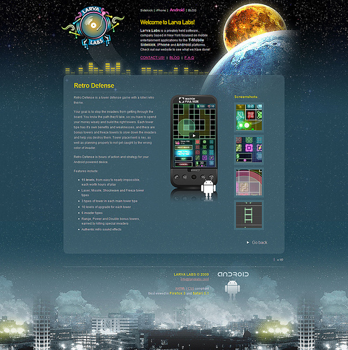 android webdesign2 30+ Android Applications Website Designs For Your Inspiration