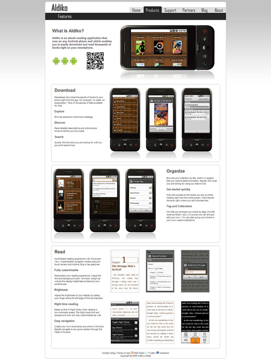 android webdesign21 30+ Android Applications Website Designs For Your Inspiration